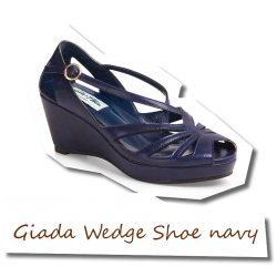 Giada Wedge Shoe navy