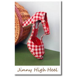 Jinny High Heel red/white