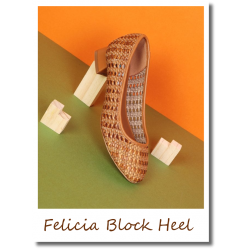 Felicia Block Heel brown