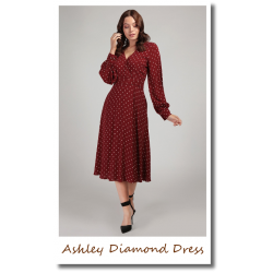 Ashley Diamond Dress red
