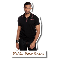 Pablo Plain Polo Shirt black