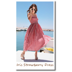 Iris Strawberry Dress