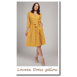 Lauren Plain Dress yellow