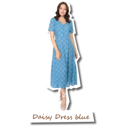 Daisy Harlequin Dress blue