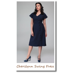 Cherilynn Swing Dress navy
