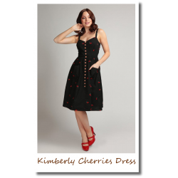 Kimberly Mini Cherries Dress