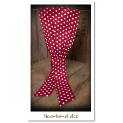 Haarband rot/weiss dot