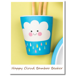 Happy Cloud Bamboo Beaker