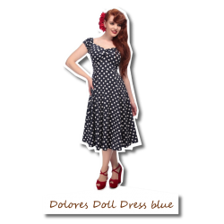 Dolores Doll Dress blue