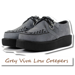 Grey Suede Viva Low Creepers