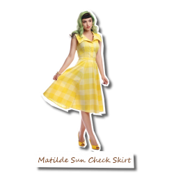 Matilde Sun Check Skirt