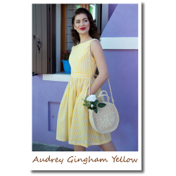 Audrey Gingham Yellow