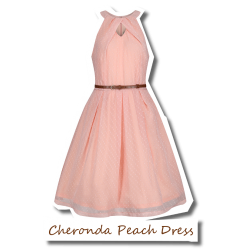 Cheronda Peach Textured Dress