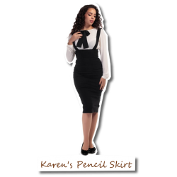 Karen's Pencil Skirt black