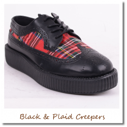 Black & Plaid Creepers