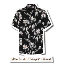 Skulls and Flowers Shirt