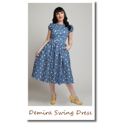 Demira Gingham Swing Dress