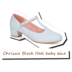 Chrissie Block Heel baby blue