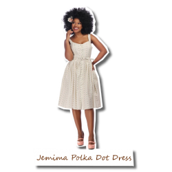 Jemima Polka Dot Swing Dress