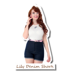 Lily Denim Shorts navy