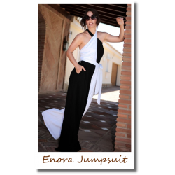 Enora Jumpsuit Black/White
