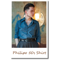 Philipo 50s Shirt Blue