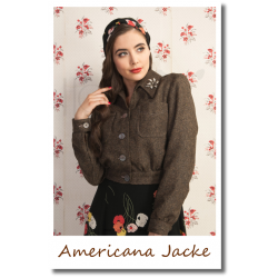 Americana Button Jacket Brown