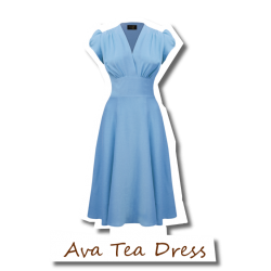 Ava Tea Dress Blue