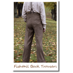 Fishtail Back Trousers brown
