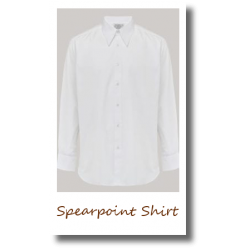 Mens Spearpoint Shirt white