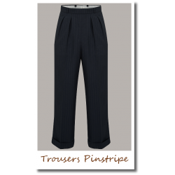 Trousers Pinstripe black