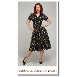 Caterina Atomic Dress black