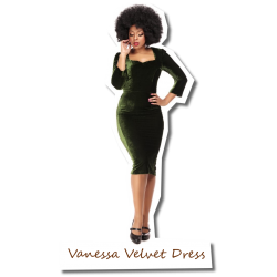 Vanessa Velvet Dress Green