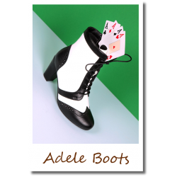 Adele Boots black/white