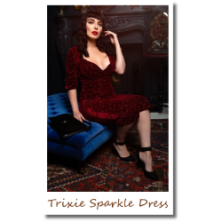 Trixie Sparkle Dress wine