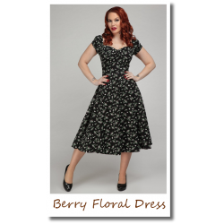 Berry Floral Dress black