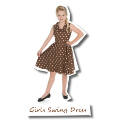 Girls Chocolate Swing Dress