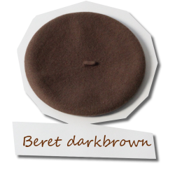 Beret in darkbrown