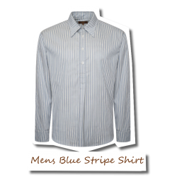 Mens Spearpoint Blue Stripe