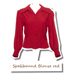 Spellbound Blouse Red