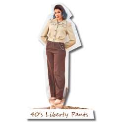 40's Liberty Pants brown