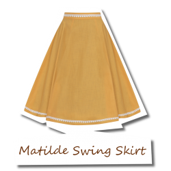 Matilde Swing Skirt Orange