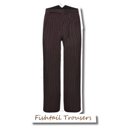 Fishtail Trousers Brown...