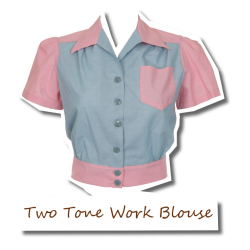 Two Tone Work Blouse