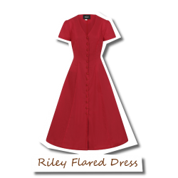 Riley Flared Dress Red